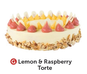 Lemon & Raspberry Torte