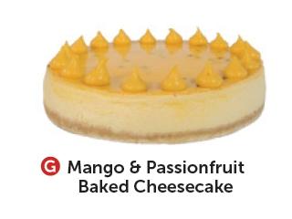 Mango & Passionfruit Baked Cheesecake
