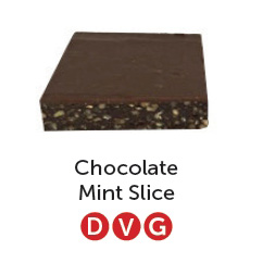 Dairy free, vegan and gluten free chocolate mint slice