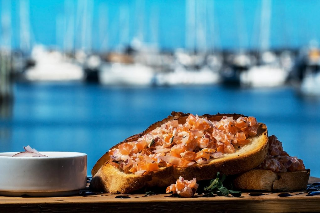 Fine dining served by the water at Cafe Balaena in Hervey Bay